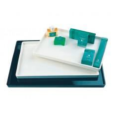Поднос для косметики для гостиничных номеров пластик, белый, 395*280*24 мм.