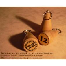 Брелок-груша для отелей с логотипом