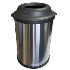 Бак для мусора большой 50л. d - 402мм , h -640мм из нержавеющей стали , матовый, код: 11220