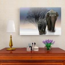 Картина на холсте 'Слоны', 90x60 см.