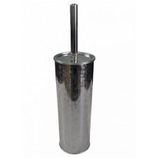 Ёрш для унитаза круглый с орнаментом напольный из нержавеющей стали, код: 502