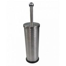 Ёрш для унитаза круглый винтообразный напольный из нержавеющей стали, код: 702