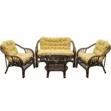 Комплект мебели из ротанга MAX POINT DESIGN MPD-SAVANA DARK BROWN/TPC-001