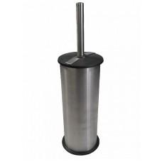 Ёрш для унитаза напольный с полоской из нержавеющей стали круглый, код: 301